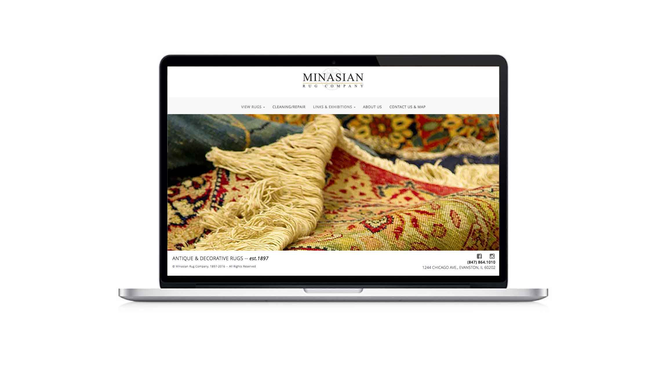 A responsive website for the Minasian Rug Company